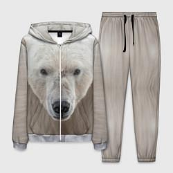 Костюм мужской Белый медведь цвета 3D-меланж — фото 1