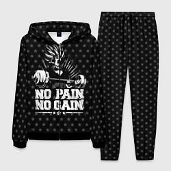 Костюм мужской No Pain No Gain цвета 3D-черный — фото 1