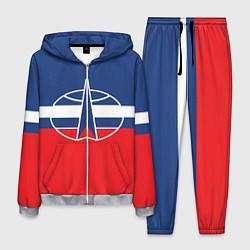 Костюм мужской Флаг космический войск РФ цвета 3D-меланж — фото 1