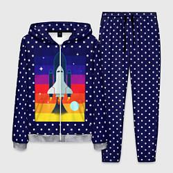 Костюм мужской Запуск ракеты цвета 3D-меланж — фото 1