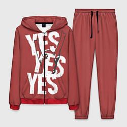 Костюм мужской Bryan Danielson: Yes цвета 3D-красный — фото 1