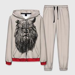 Костюм мужской Старый лев-воин цвета 3D-красный — фото 1
