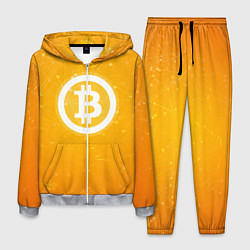 Костюм мужской Bitcoin Orange цвета 3D-меланж — фото 1