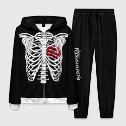 Костюм мужской Кукрыниксы: Скелет цвета 3D-белый — фото 1