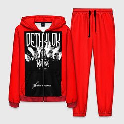 Костюм мужской Dethklok: Knitting factory цвета 3D-красный — фото 1