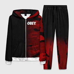 Костюм мужской Obey Military Black Red цвета 3D-белый — фото 1
