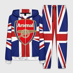 Костюм мужской FC Arsenal: England цвета 3D-белый — фото 1