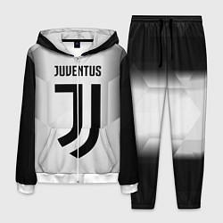 Костюм мужской FC Juventus: Silver Original цвета 3D-белый — фото 1