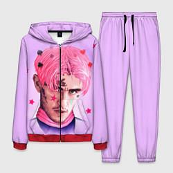 Костюм мужской Lil Peep: Pink Edition цвета 3D-красный — фото 1