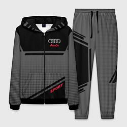 Костюм мужской Audi: Crey & Black цвета 3D-черный — фото 1
