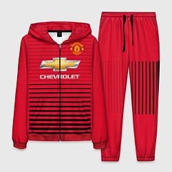 Костюм мужской FC Manchester United: Away 18/19 цвета 3D-красный — фото 1