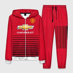 Костюм мужской FC Manchester United: Away 18/19 цвета 3D-белый — фото 1