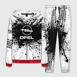 Костюм мужской Opel: Black Spray цвета 3D-красный — фото 1