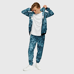 Костюм мужской Грот: Синий мрамор цвета 3D-черный — фото 2