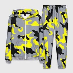 Костюм мужской Yellow & Grey Camouflage цвета 3D-меланж — фото 1