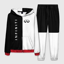 Костюм мужской Infiniti: Black & White цвета 3D-красный — фото 1