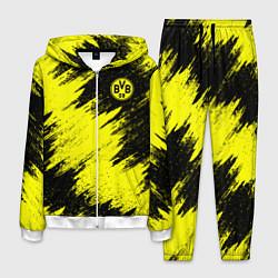 Костюм мужской FC Borussia Dortmund цвета 3D-белый — фото 1