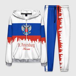 Костюм мужской St. Petersburg: Russia цвета 3D-меланж — фото 1
