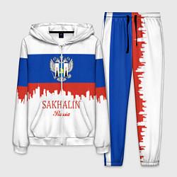 Костюм мужской Sakhalin: Russia цвета 3D-белый — фото 1