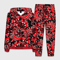 Костюм мужской Хохлома красная цвета 3D-красный — фото 1