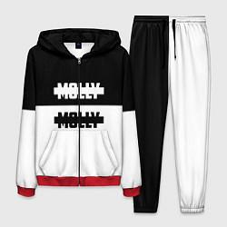 Костюм мужской Molly: Black & White цвета 3D-красный — фото 1