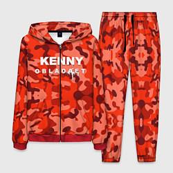 Костюм мужской Kenny: Obladaet Camo цвета 3D-красный — фото 1
