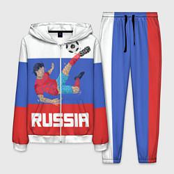 Костюм мужской Russia Footballer цвета 3D-белый — фото 1