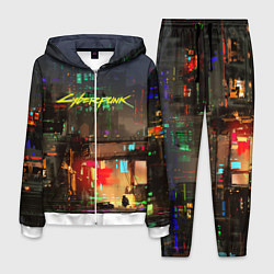 Костюм мужской Cyberpunk 2077: Night City цвета 3D-белый — фото 1
