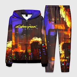 Костюм мужской Cyberpunk 2077: Night City цвета 3D-черный — фото 1