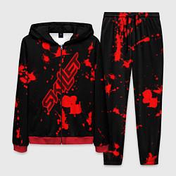 Костюм мужской Skillet: Blood Style цвета 3D-красный — фото 1
