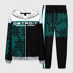 Костюм мужской Detroit: Cyber Hexagons цвета 3D-меланж — фото 1