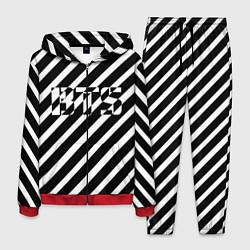 Костюм мужской BTS: B&W Stripes цвета 3D-красный — фото 1