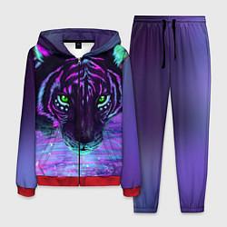 Костюм мужской Неоновый тигр цвета 3D-красный — фото 1