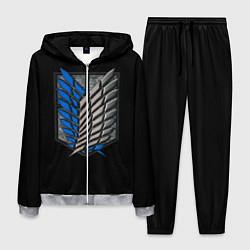 Костюм мужской Стальные крылья цвета 3D-меланж — фото 1