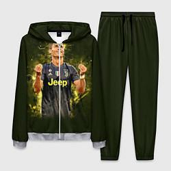 Костюм мужской Ronaldo: Juve Sport цвета 3D-меланж — фото 1