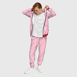 Костюм мужской BTS: Pink Grid цвета 3D-красный — фото 2