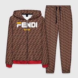 Костюм мужской Fendi: Roma цвета 3D-красный — фото 1