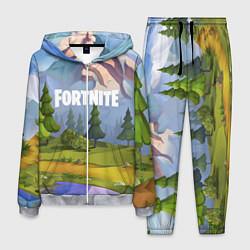 Костюм мужской Fortnite: Forest View цвета 3D-меланж — фото 1