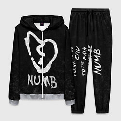 Костюм мужской XXXTentacion: Numb цвета 3D-меланж — фото 1