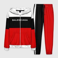 Костюм мужской Balenciaga: White & Red цвета 3D-белый — фото 1