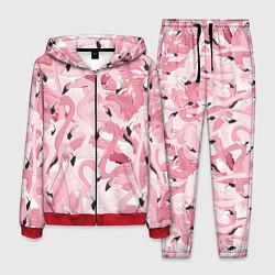 Костюм мужской Розовый фламинго цвета 3D-красный — фото 1
