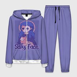 Костюм мужской Sally Face: Violet Halo цвета 3D-белый — фото 1