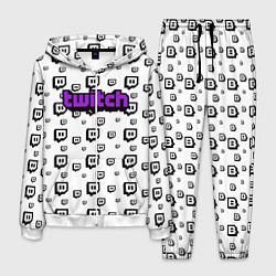 Костюм мужской Twitch Online цвета 3D-белый — фото 1