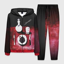 Костюм мужской ДЖИЗУС: Нога в Ногу с Этой цвета 3D-красный — фото 1