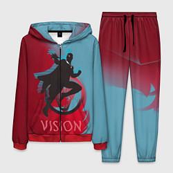 Костюм мужской Vision Duo цвета 3D-красный — фото 1