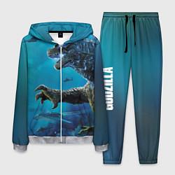 Костюм мужской Underwater Godzilla цвета 3D-меланж — фото 1
