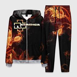 Костюм мужской Rammstein Flame цвета 3D-меланж — фото 1