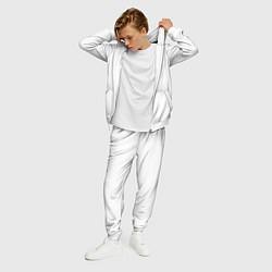 Костюм мужской Без дизайна цвета 3D-белый — фото 2