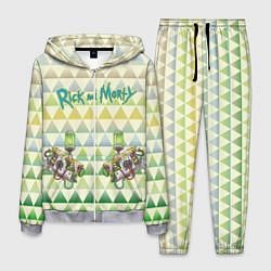 Костюм мужской Rick and Morty цвета 3D-меланж — фото 1