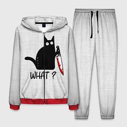 Костюм мужской What cat цвета 3D-красный — фото 1